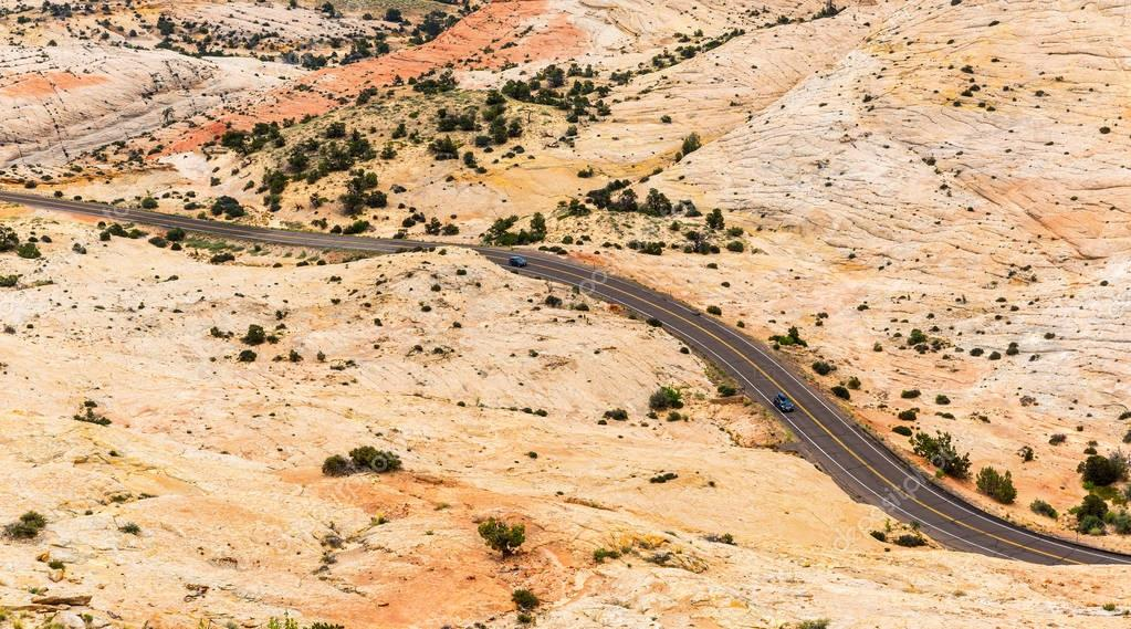 picturesque landscape of desert