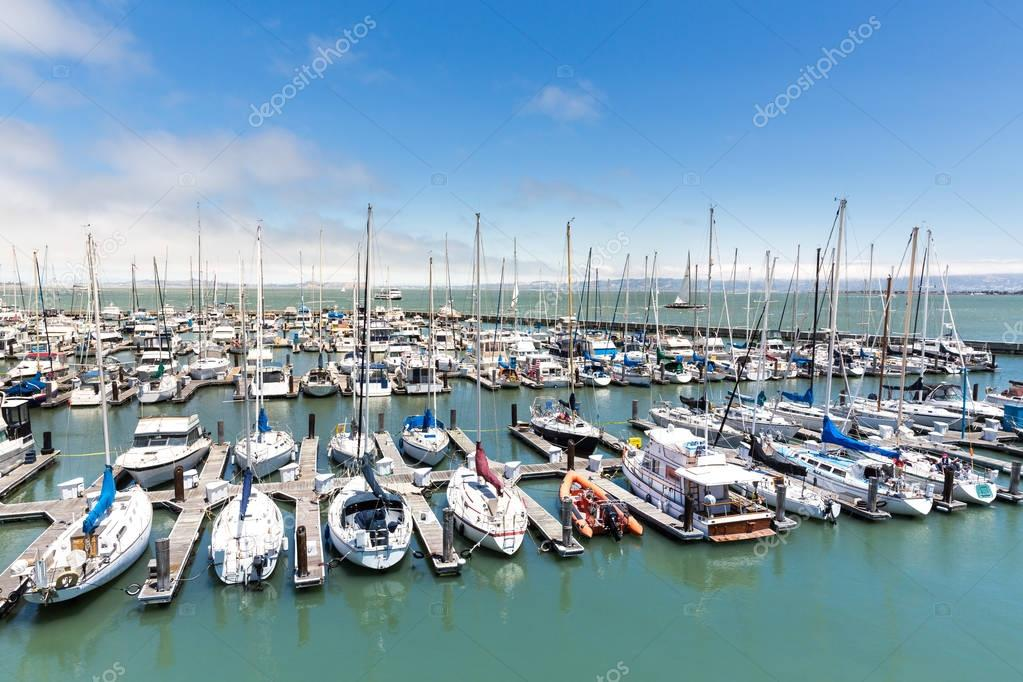 Yachts in San Francisco harbor