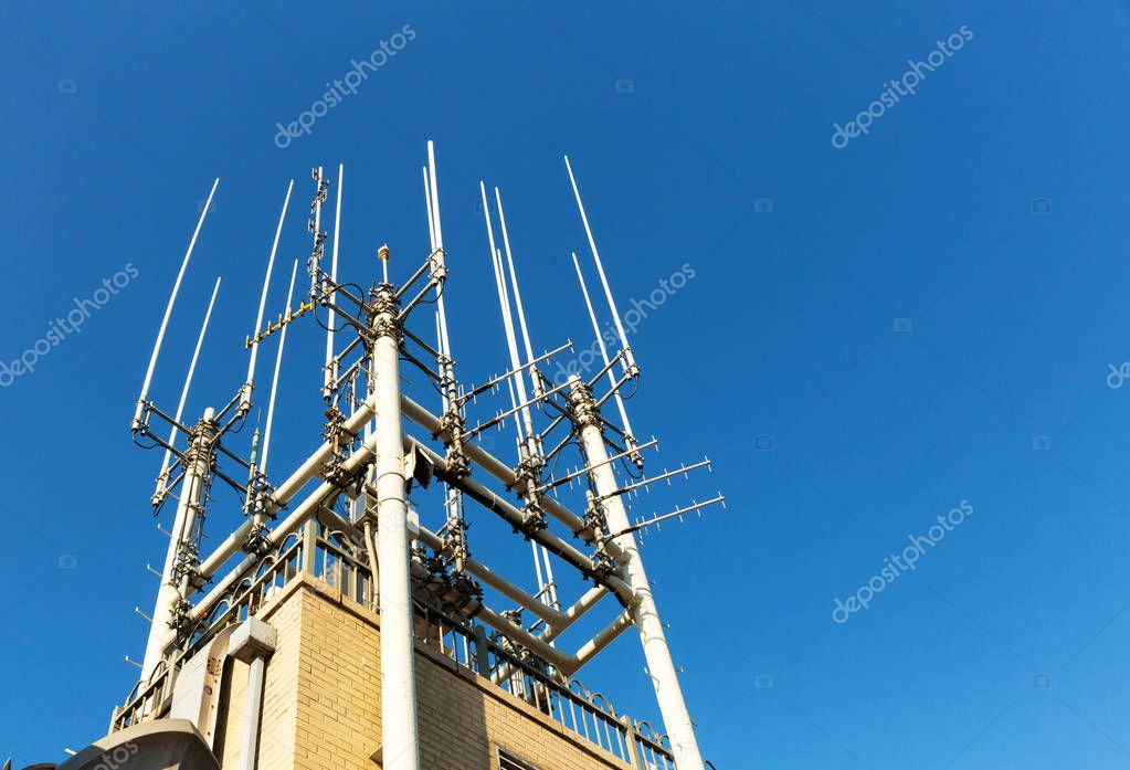 telecommunication equipment on roof