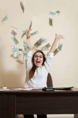 young female accountant