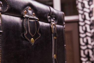Black vintage suitcase