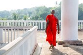 Buddhist monk in old temple