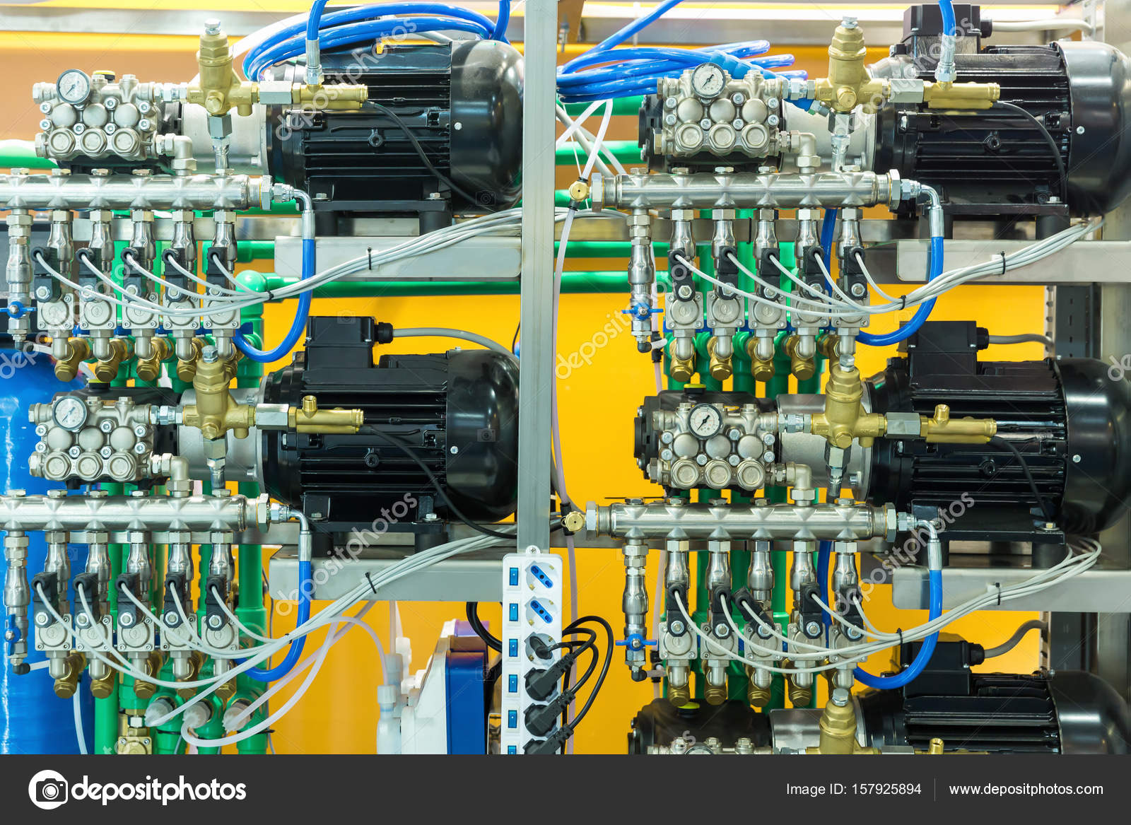 Air Line Compressors For Pneumatic Instrument Stock Photo Compressor Schematic Diagram Pro Professional Car Or Tire Service Equipment By Nomadsoul1