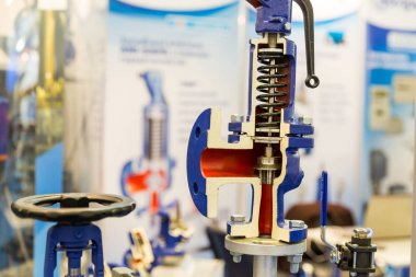 Water pump valve cross section