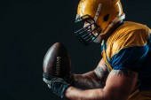 Photo American football offensive player