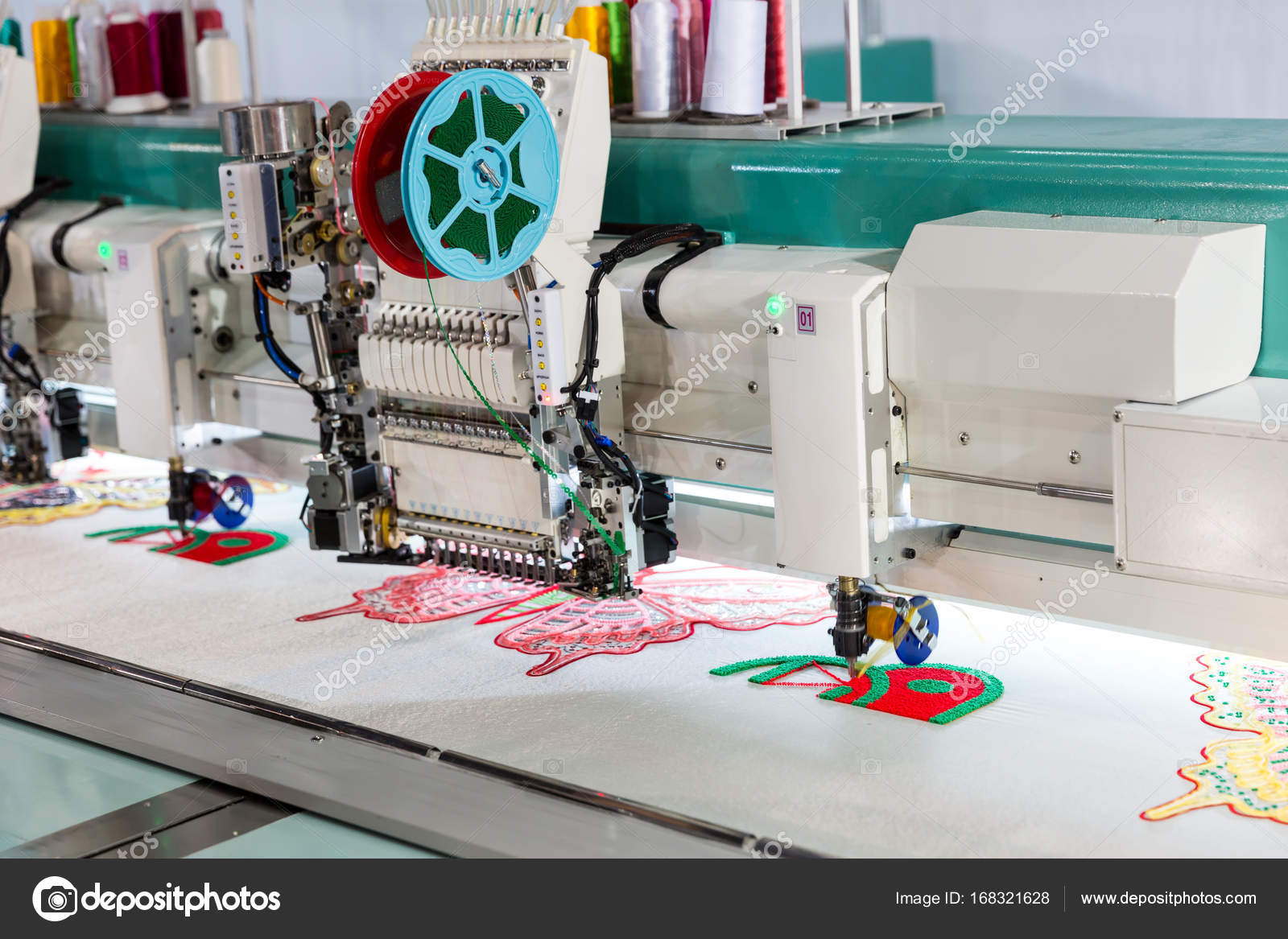 patron para bordar a máquina de coser que hace — Fotos de Stock ...