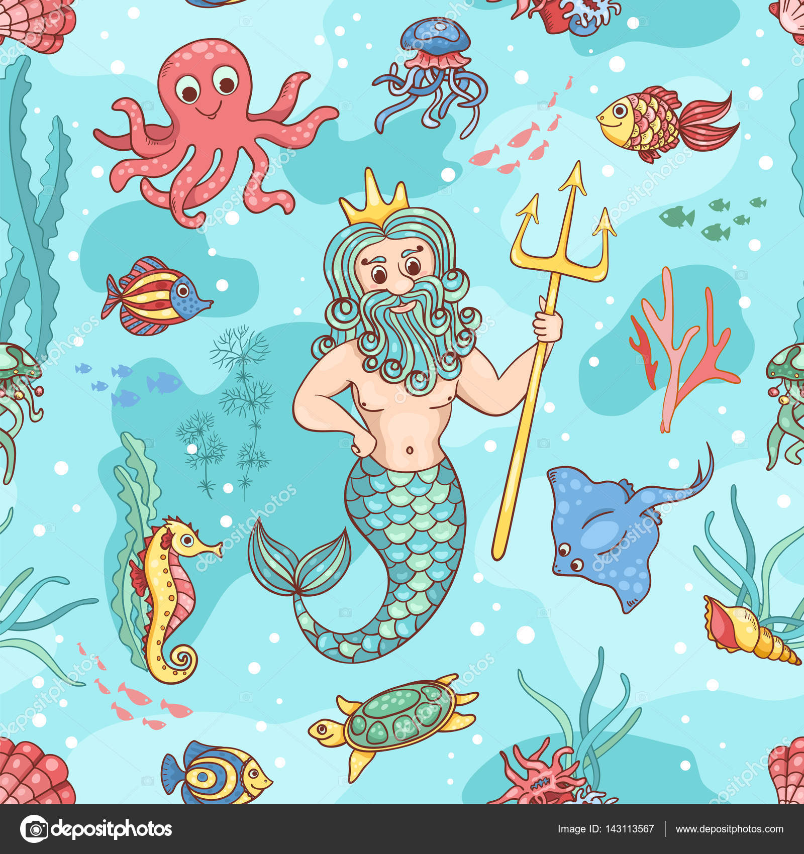 снимки, которые картинки морского царя или подводное царство утолщенной