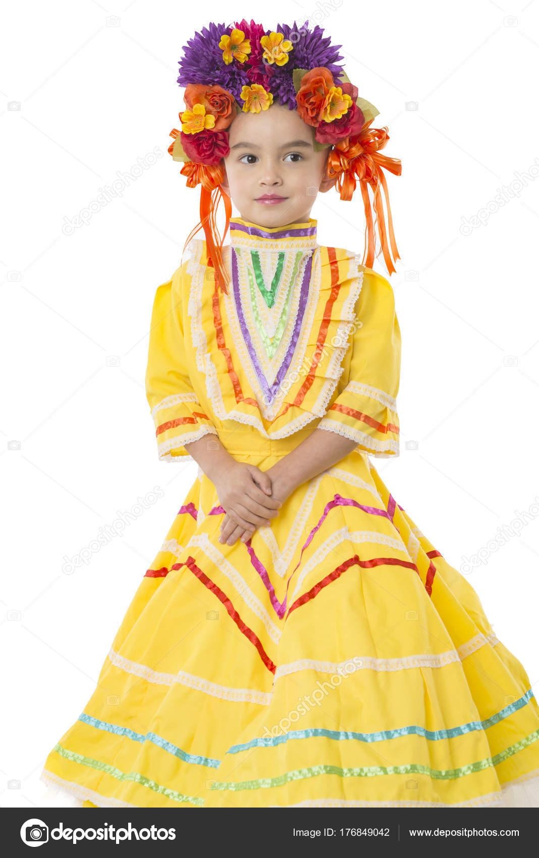 Tradicional Mexicano Pedazo De Vestido Y Cabello Foto De