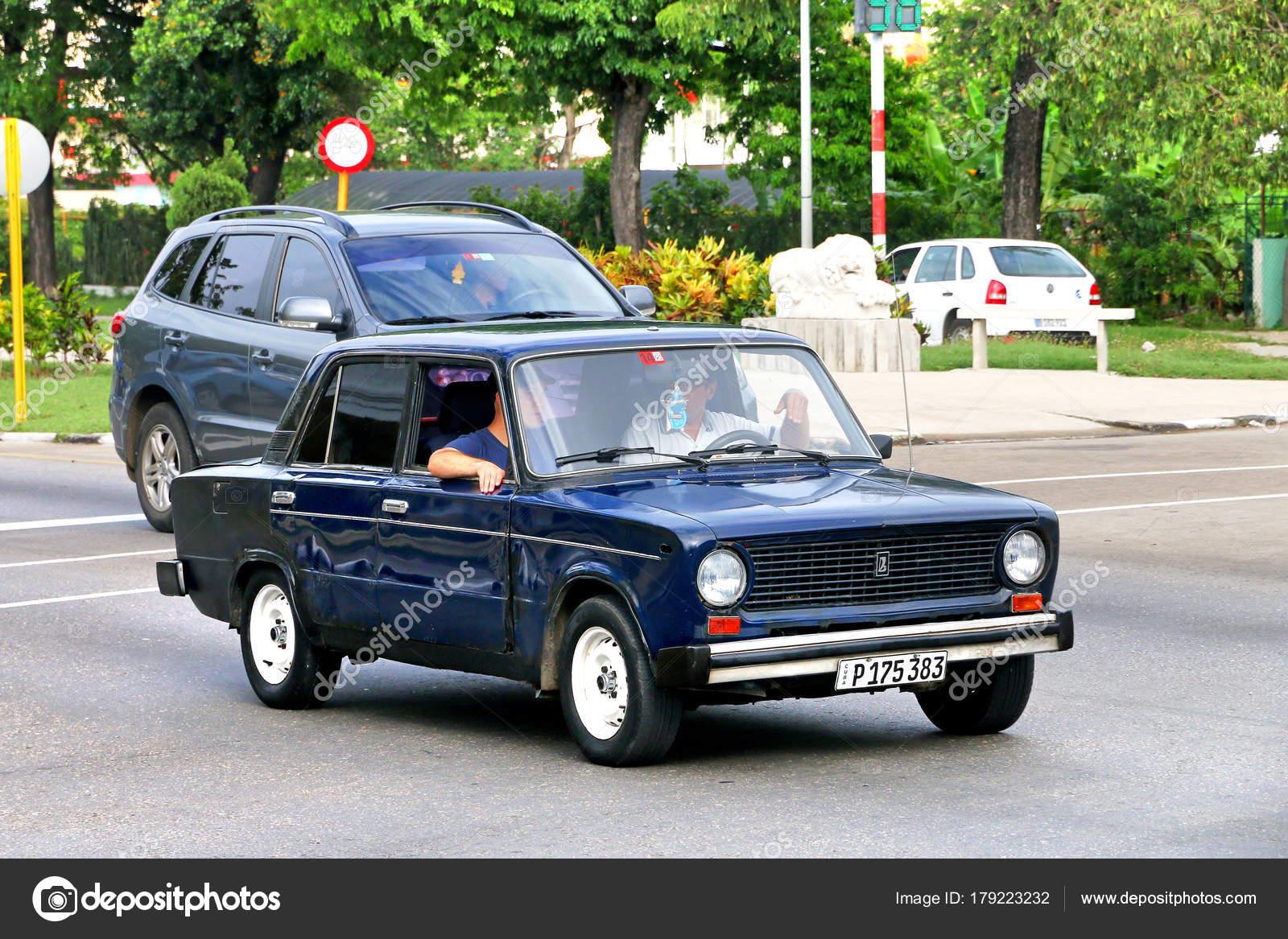 Havana Cuba June 2017 Old Soviet Motor Car Lada 2101 – Stock ...