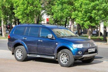 Ufa, Russia - May 25, 2012: Offroad vehicle Mitsubishi Pajero Sport in the city street.