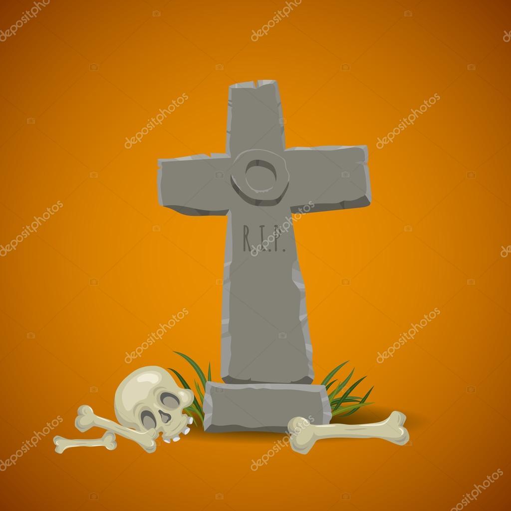 cartoon christian tombstone med rip u2014 stock vektor 72075117