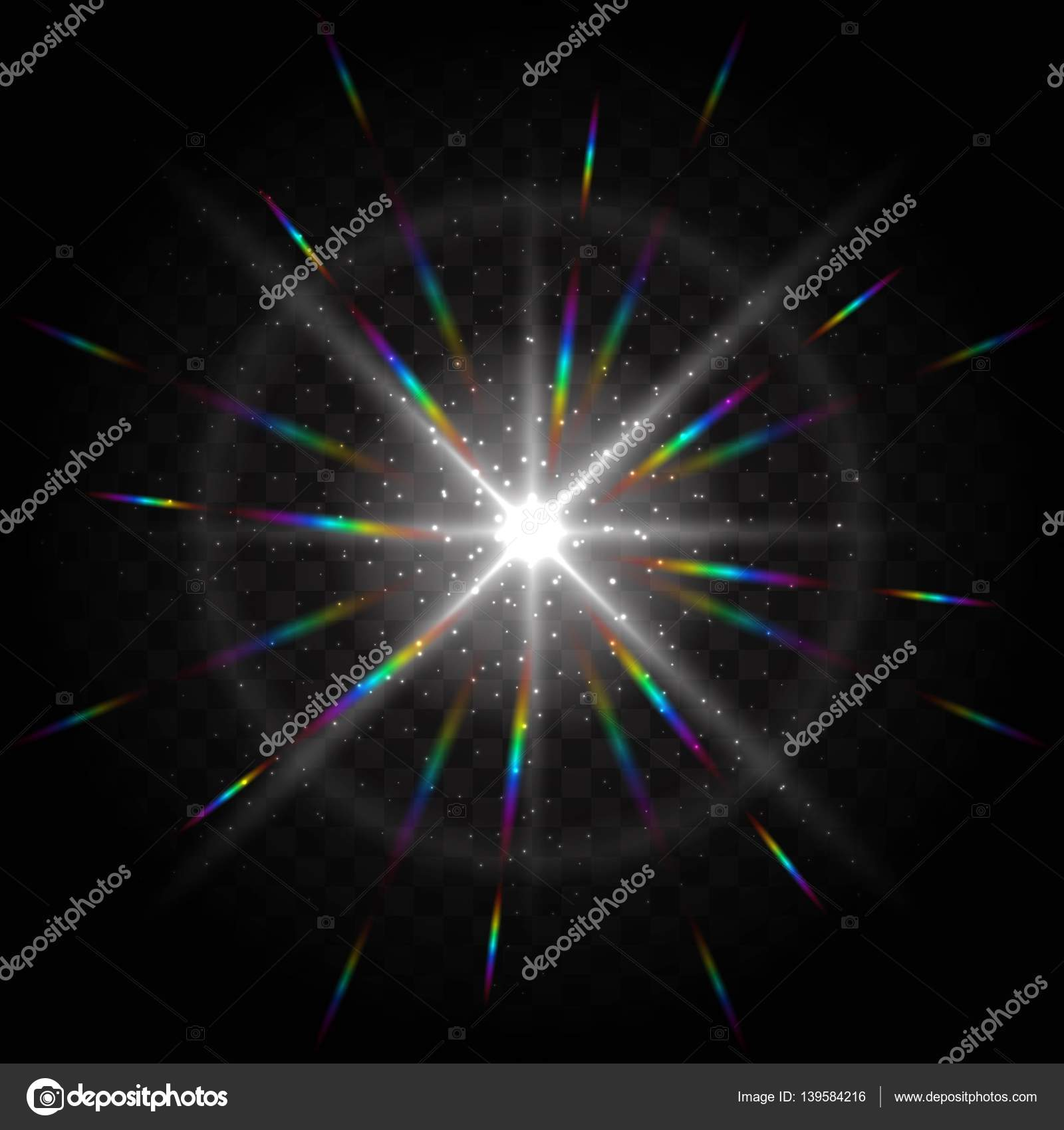 Effect of particles flying in different directions shine, glow ... for Sun Light Effect Background  53kxo