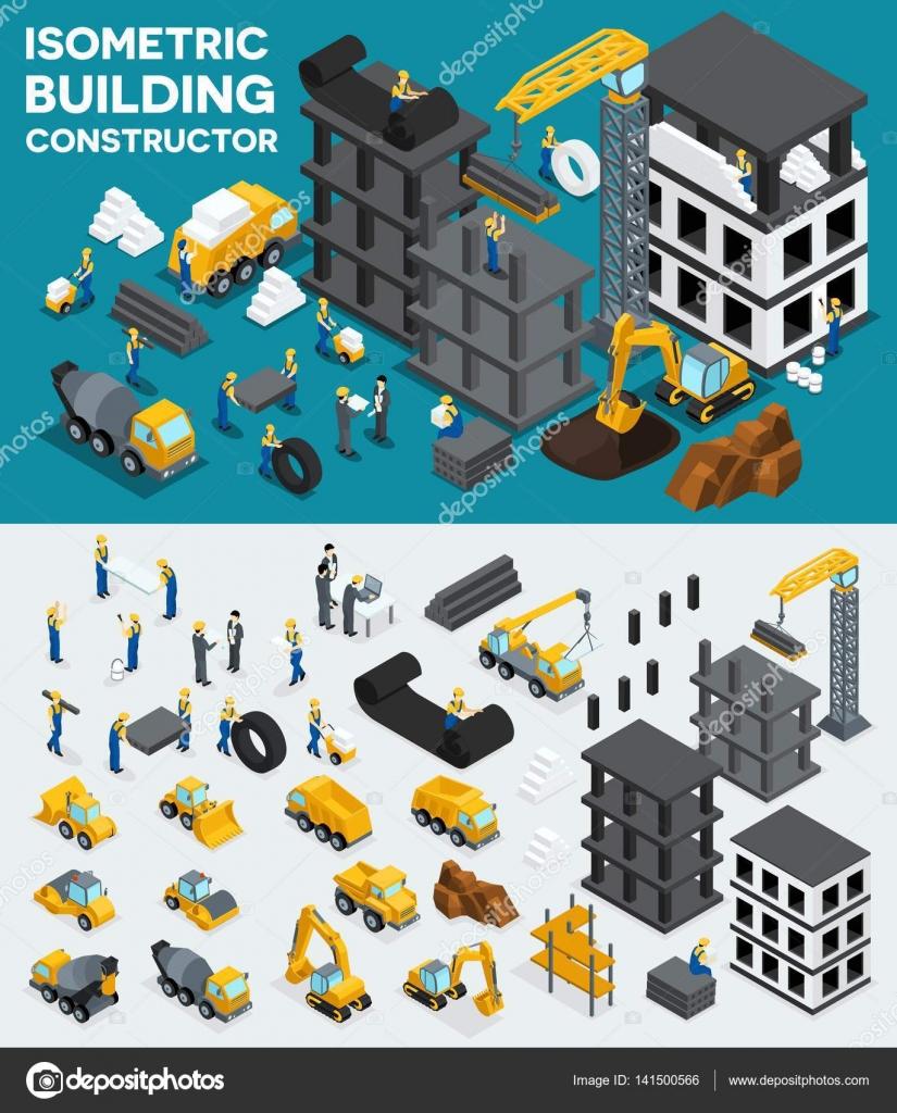Design Gebäude Isometrische Ansicht, Erstellen Sie Ihr Eigenes Design,  Gebäude, Bau, Aushub