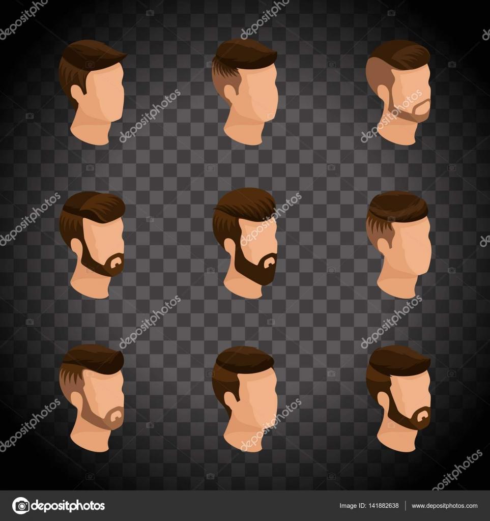 Isometricos De Popular Peinados Para Hombre Estilo Hipster