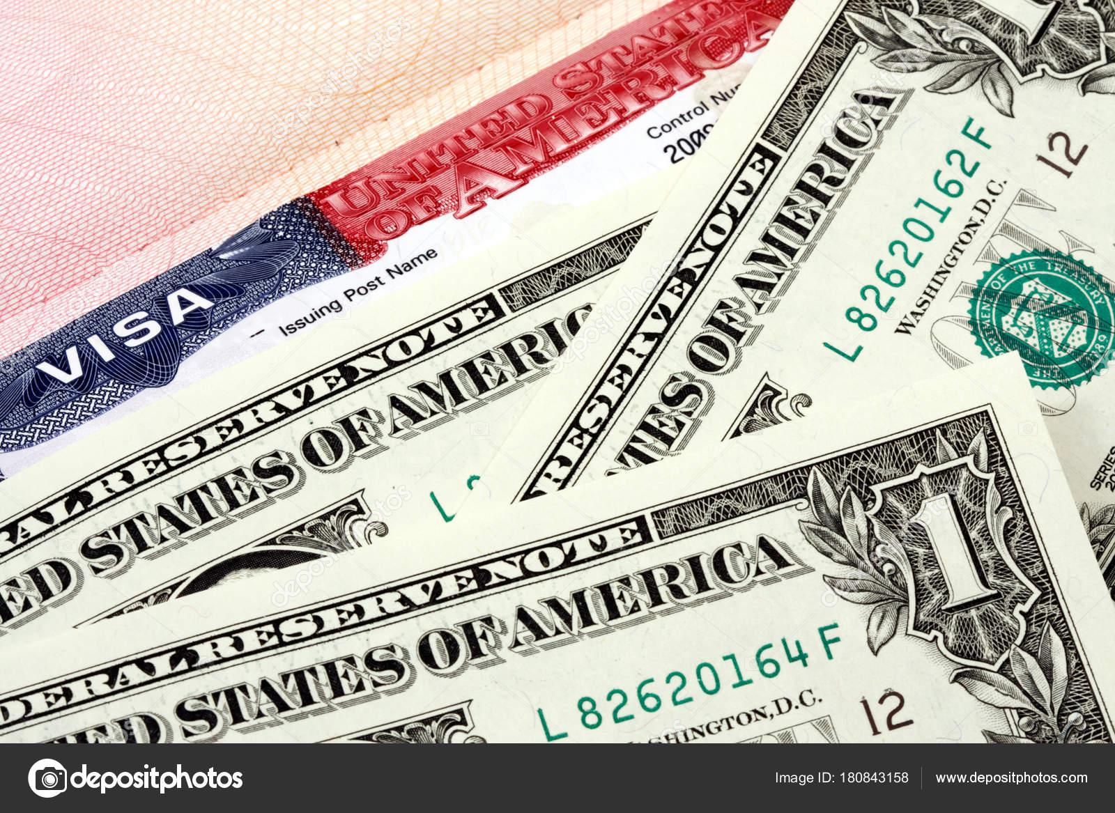Visa Passport Three Dollars — Stock Photo © japonchik #180843158