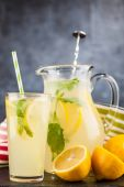 egy üveg limonádé.