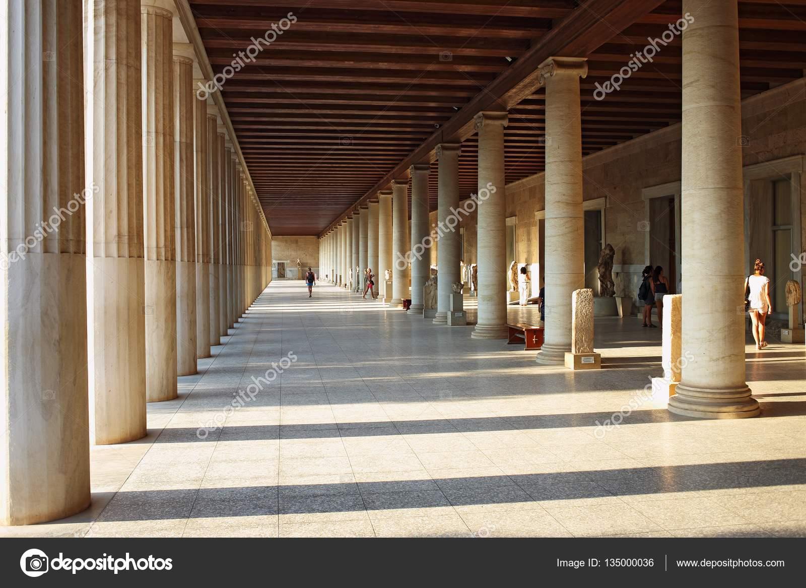 Sto di attalo portico in ancient agora atene grecia for Piani di progettazione portico
