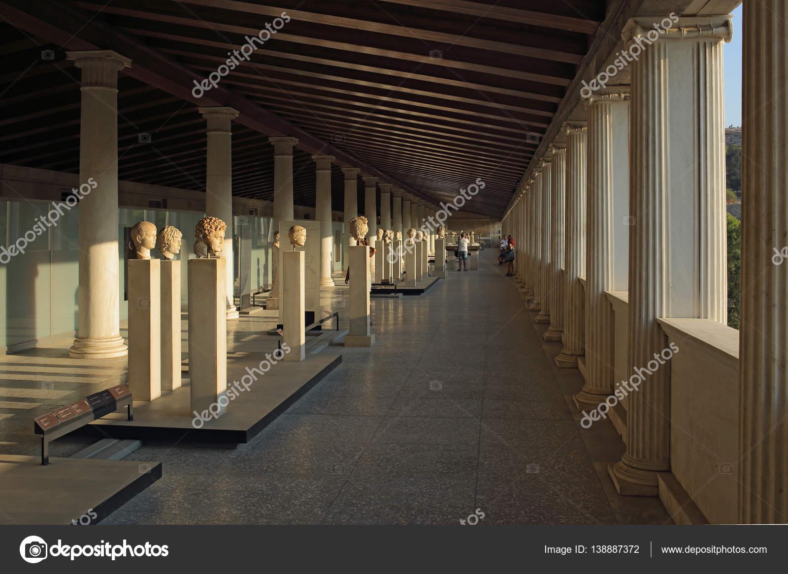 STOA des Attalos (Portikus) in antike Agora, Athen, Griechenland ...