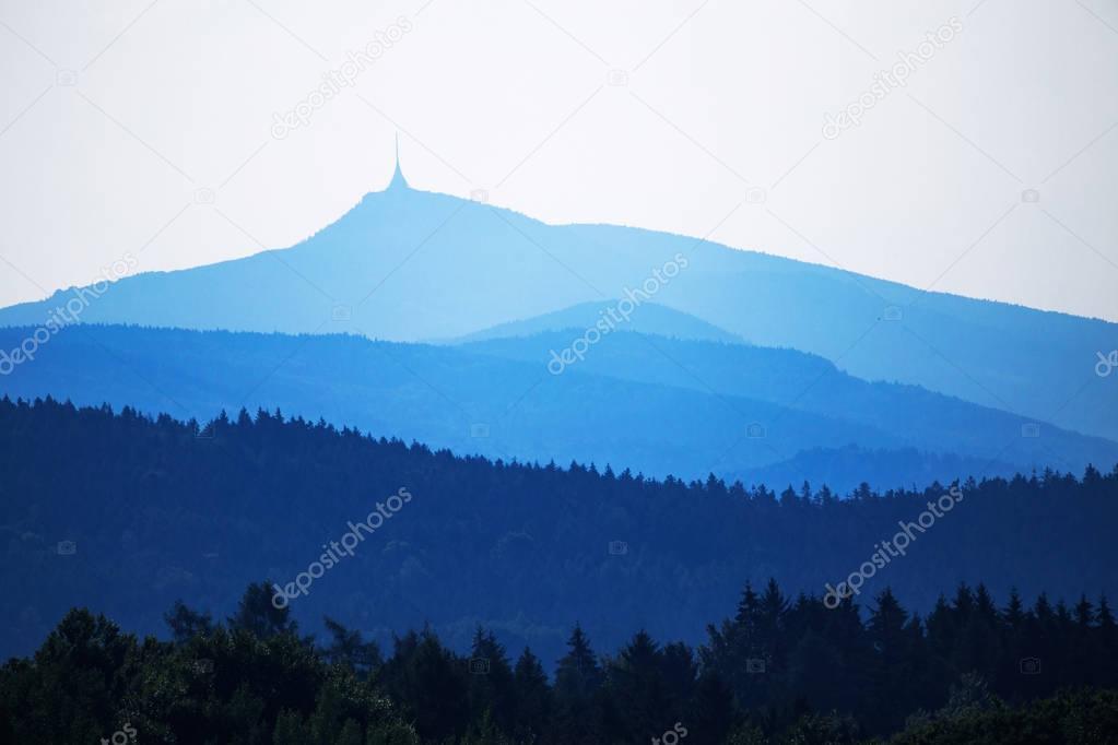 Rolling misty hills