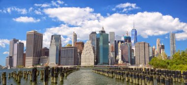 Lower Manhattan skyline panorama