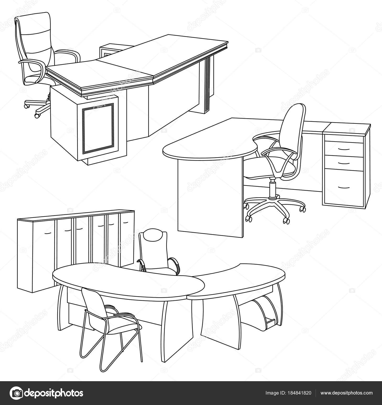 Oficina En Un Estilo De Dibujo Vector De Stock Aristarh 184841820