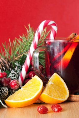 Mulled wine and sweets