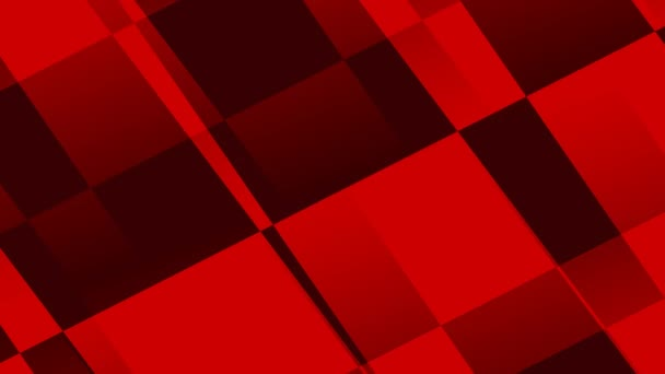 Moving Red and Black Abstract Square Rectangular Platforms