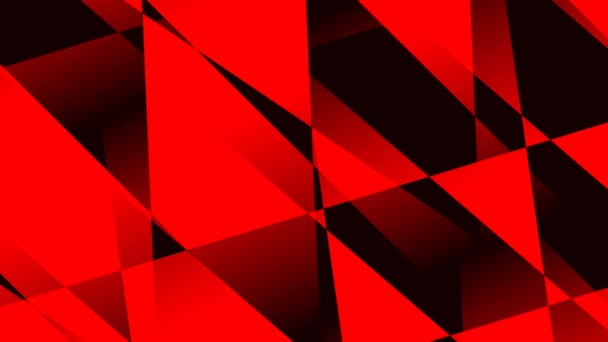 Fekete és piros háromszögek mozgó ellentétes rétegek