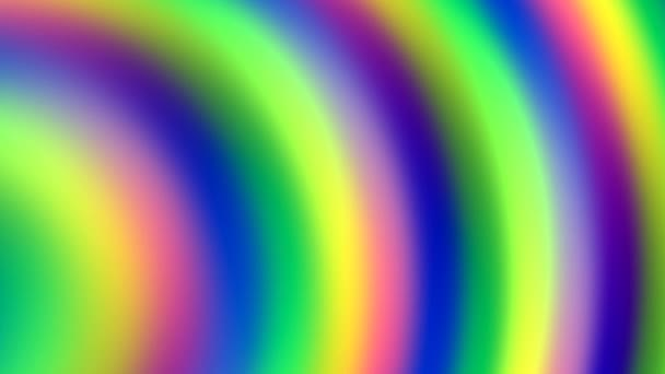 Rainbow Spectrum of Soft Pulsing Rings Waving Across Frame