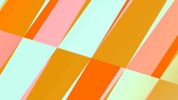 Orange Ice-Cream Themed Geometric Shapes Grid Layout Endless Loop