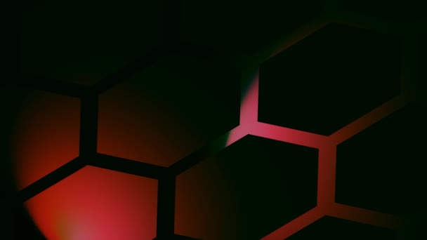 Abstract Hexagonal Grid Revealed by Moving Spotlights