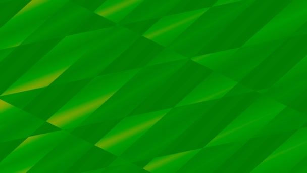Dark Green Triangles Moving Abstract Background