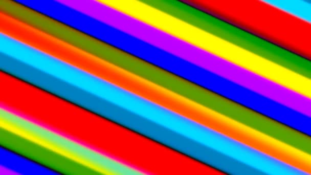 Looping Bright Rainbow of Layered Primary Colors Abstract Background