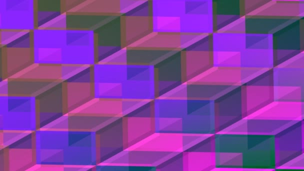Purple 3d Grid of Isometric Cubes Abstract Background