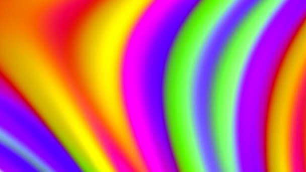 Abstraktní Morphing Candy Rainbow Prings Sloučení pozadí