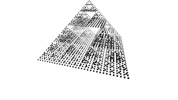 Abstract Pyramid Cellular Automata Automaton Pattern Spinning Loop