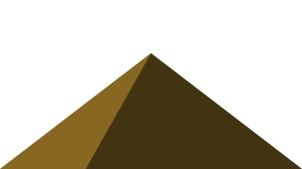 Alternating Rotating Simple Lit Side Pyramid Animation Loop