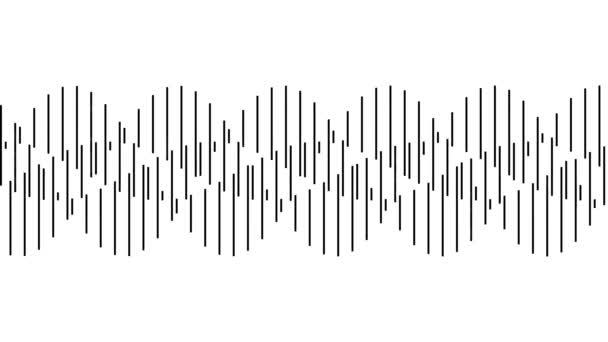 Looping szinuszhullám Végtelen bővülő és zsugorodó minta hurok