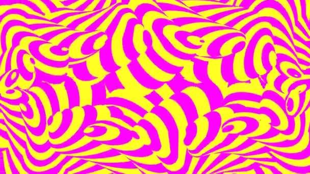 Világos rózsaszín és sárga görbe Candy Stripe integető minta