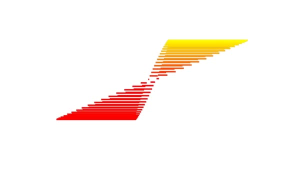 Retro 80s Low Resolution Spinning Logo Pixel Effect