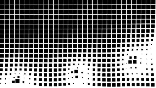 Maske aus Lichtschnipseln, die sich durch ein Gitter aus Quadraten bewegen