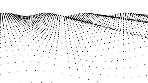 Vlnění Abstraktní povrch bodů pulzující vlnění příboj flexibilní letadlo