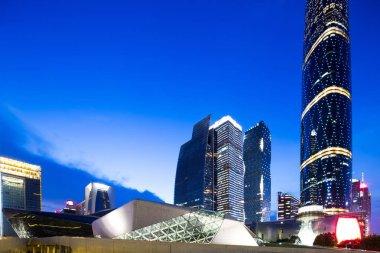 modern office buildings in midtown of Guangzhou