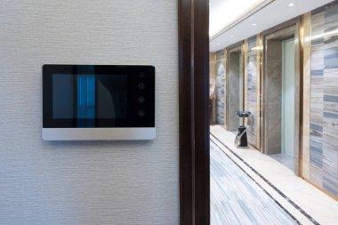 intercom video door bell on the wall