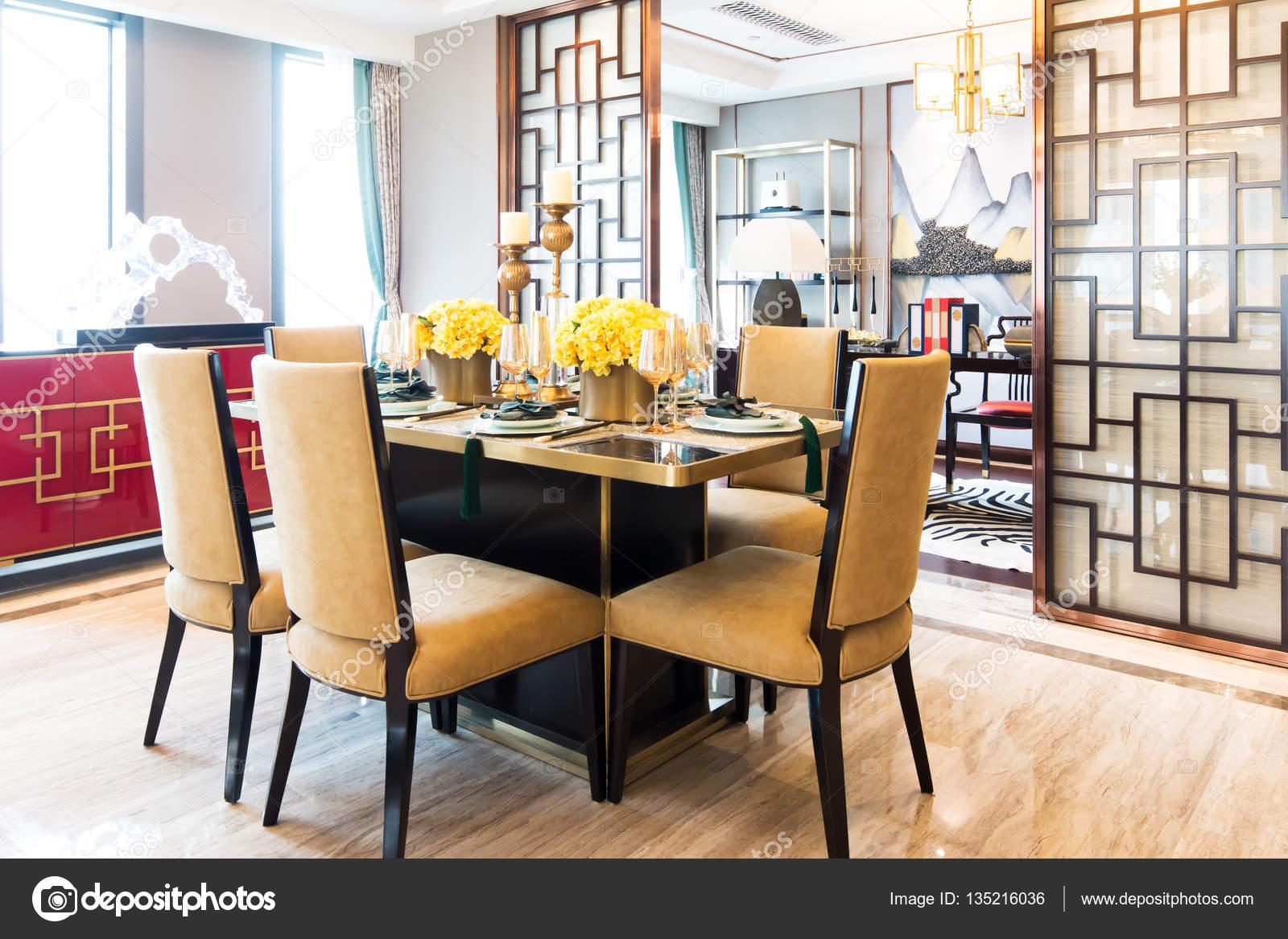 Interieur van moderne eetkamer u stockfoto zhudifeng