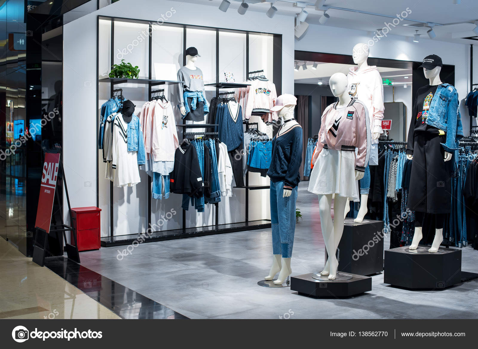 671eee79f07a0 fashion clothes in shopping mall – Stock Editorial Photo © zhudifeng ...
