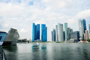 cityscape and skyline of modern city from water