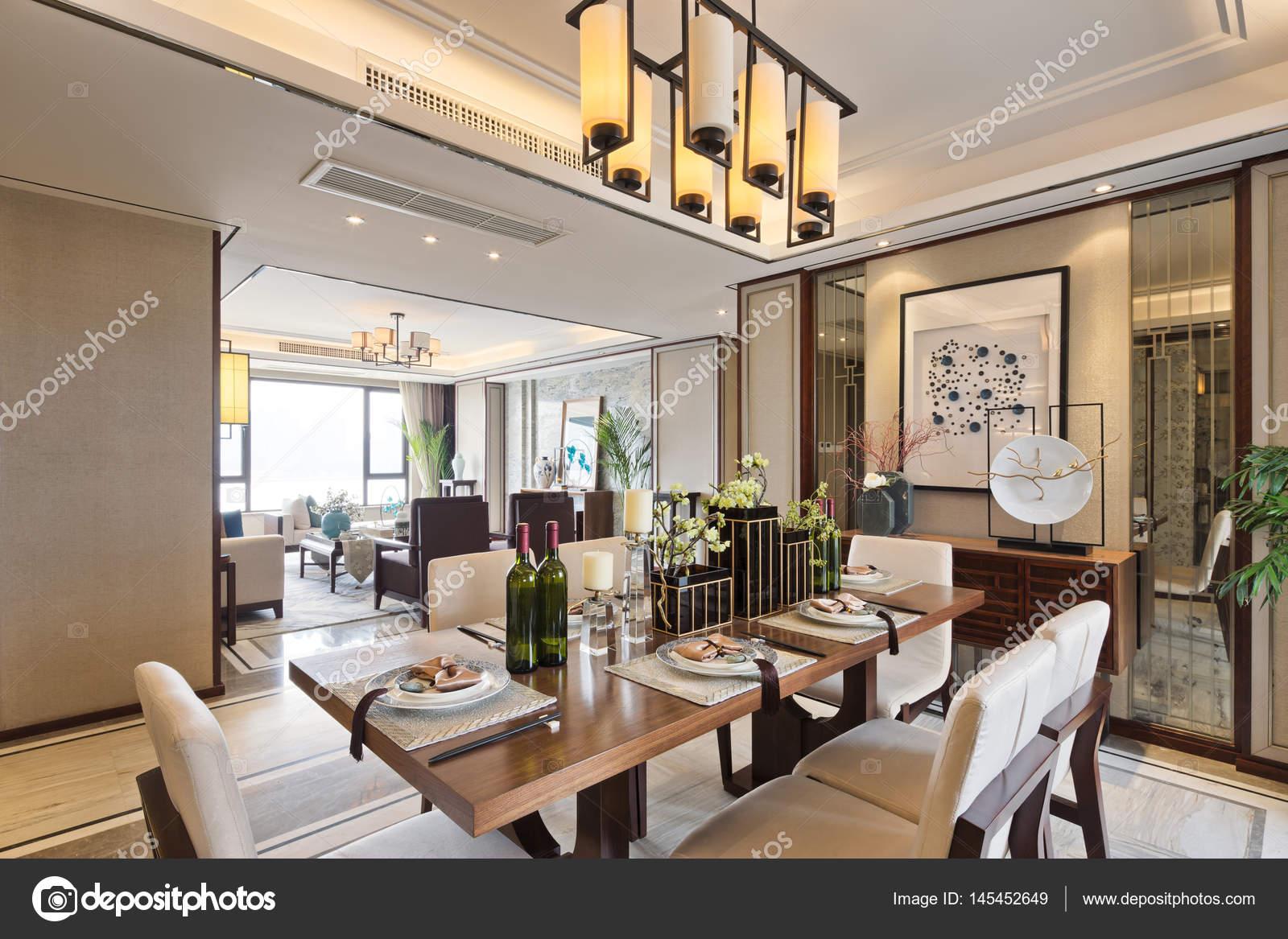 Interno della sala da pranzo moderna — Foto Stock ...
