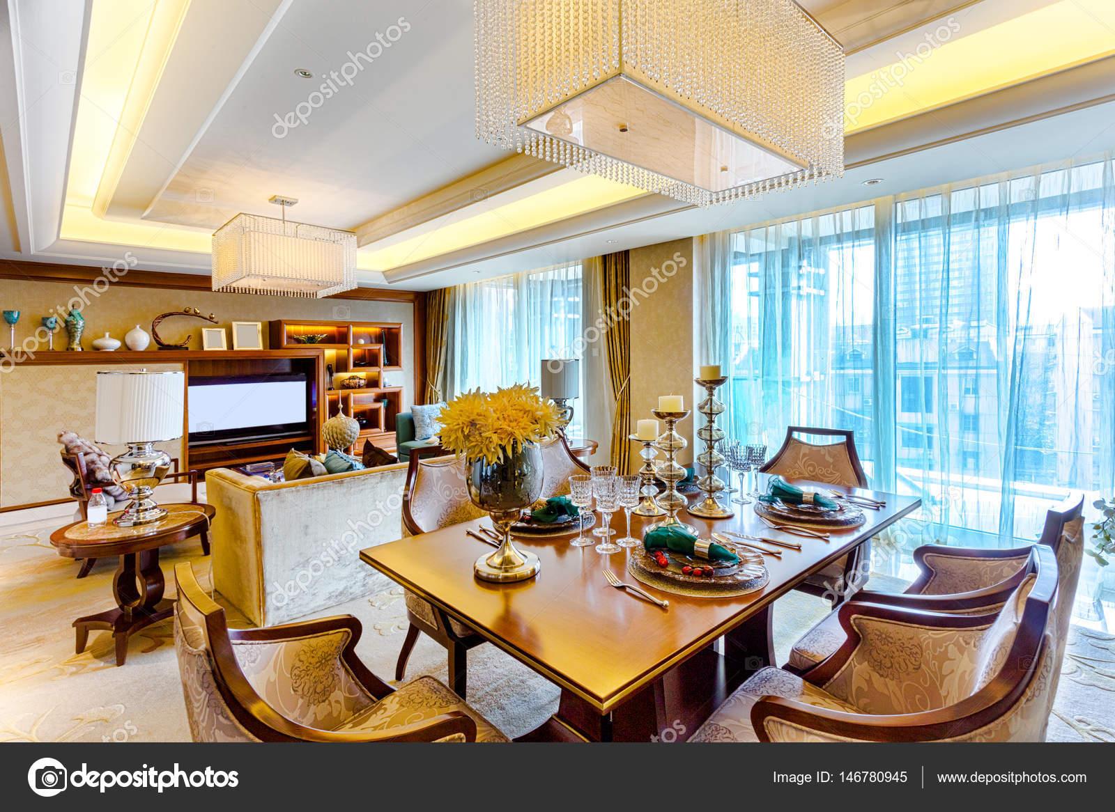 interieur van moderne eetkamer — Stockfoto © zhudifeng #146780945