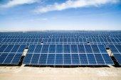 solární panely v poli